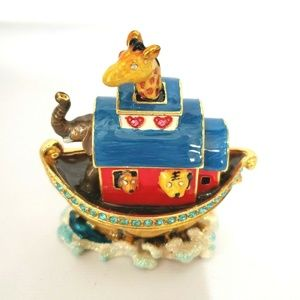Objet D'Art Trinket Box Noahs Ark Release No 154 R